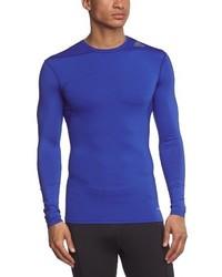 Camiseta de manga larga azul de adidas