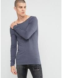 Camiseta de manga larga azul de Asos