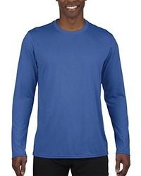 Camiseta de Manga Larga Azul de Gildan