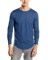 Camiseta de manga larga azul de Jack & Jones