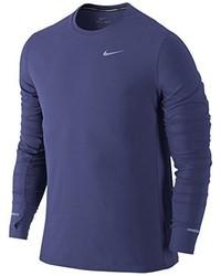 Camiseta de manga larga azul de Nike