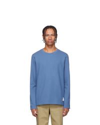 Camiseta de manga larga azul de Thom Browne