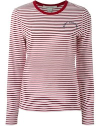 Camiseta de manga larga blanca y roja original 2984055