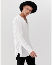 Camiseta de manga larga blanca de ASOS DESIGN