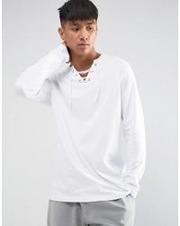 Camiseta de manga larga blanca de Asos