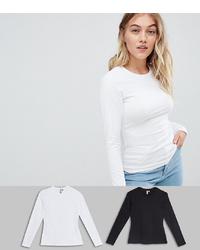 Camiseta de manga larga blanca de Asos Petite