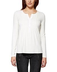 Camiseta de manga larga blanca de Comma