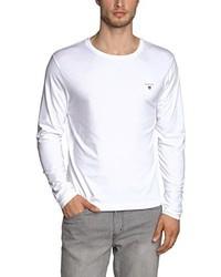 Camiseta de manga larga blanca de Gant