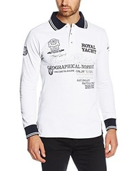 Camiseta de manga larga blanca de Geographical Norway