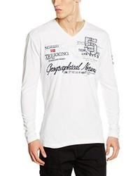 Camiseta de manga larga blanca de Geographical Norway