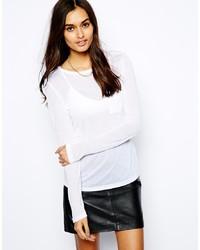 Camiseta de manga larga blanca de Glamorous