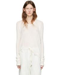 Camiseta de manga larga blanca de Haider Ackermann