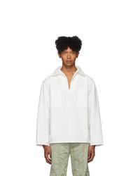 Camiseta de manga larga blanca de Jacquemus