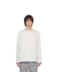Camiseta de manga larga blanca de Lemaire