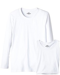 Camiseta de manga larga blanca de Mick Morrison