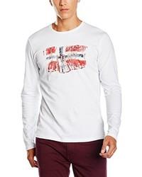 Camiseta de manga larga blanca de Napapijri