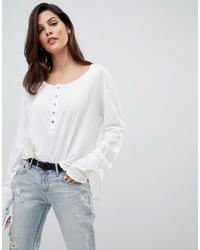 Camiseta de manga larga blanca de One Teaspoon