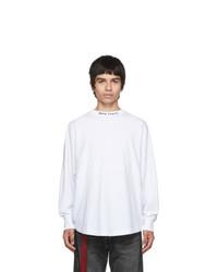 Camiseta de manga larga blanca de Palm Angels