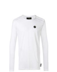 Camiseta de manga larga blanca de Philipp Plein