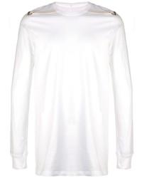Camiseta de manga larga blanca de Rick Owens