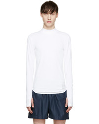 Camiseta de manga larga blanca de Satisfy