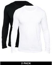Camiseta de manga larga blanca de Selected