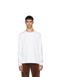 Camiseta de manga larga blanca de Thom Browne