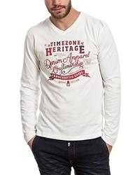 Camiseta de manga larga blanca de Timezone