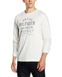 Camiseta de manga larga blanca de Tommy Hilfiger