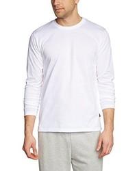 Camiseta de manga larga blanca de Trigema
