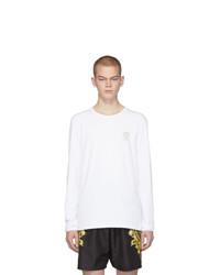Camiseta de manga larga blanca de Versace Underwear