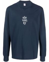 Camiseta de manga larga bordada azul marino de Eleventy