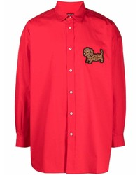 Camiseta de manga larga bordada roja de Jacquemus
