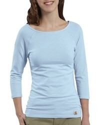 Camiseta de manga larga celeste