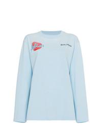 Camiseta de manga larga celeste de Palm Angels