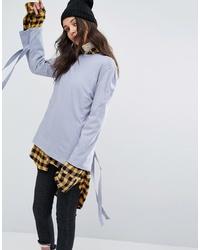 Camiseta de manga larga celeste de STYLE NANDA
