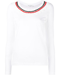 Camiseta de Manga Larga con Adornos Blanca de Sonia Rykiel