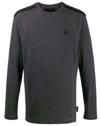 Camiseta de manga larga con adornos en gris oscuro de Philipp Plein