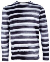 Camiseta de Manga Larga de Rayas Horizontales Blanca y Negra de Paul Smith