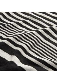 Camiseta de Manga Larga de Rayas Horizontales Blanca y Negra de Haider Ackermann
