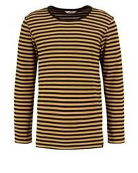 Camiseta de manga larga de rayas horizontales dorada de Lee