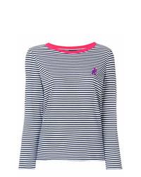 Camiseta de manga larga de rayas horizontales en azul marino y blanco de Ps By Paul Smith