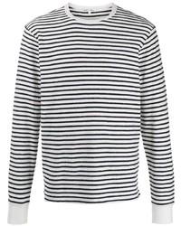 Camiseta de manga larga de rayas horizontales en blanco y negro de Alex Mill