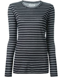 Camiseta de manga larga de rayas horizontales en blanco y negro de Etoile Isabel Marant
