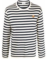 Camiseta de manga larga de rayas horizontales en blanco y negro de Kenzo