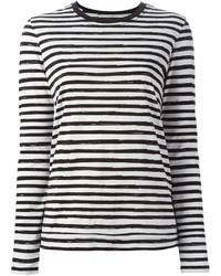 Camiseta de manga larga de rayas horizontales en blanco y negro de Marc by Marc Jacobs