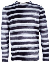 Camiseta de manga larga de rayas horizontales en blanco y negro de Paul Smith