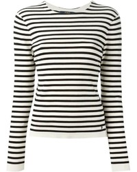 Camiseta de manga larga de rayas horizontales en blanco y negro de Polo Ralph Lauren