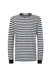 Camiseta de manga larga de rayas horizontales en negro y blanco de Golden Goose Deluxe Brand