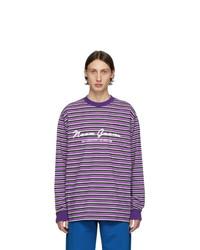 Camiseta de manga larga de rayas horizontales morado de Noon Goons